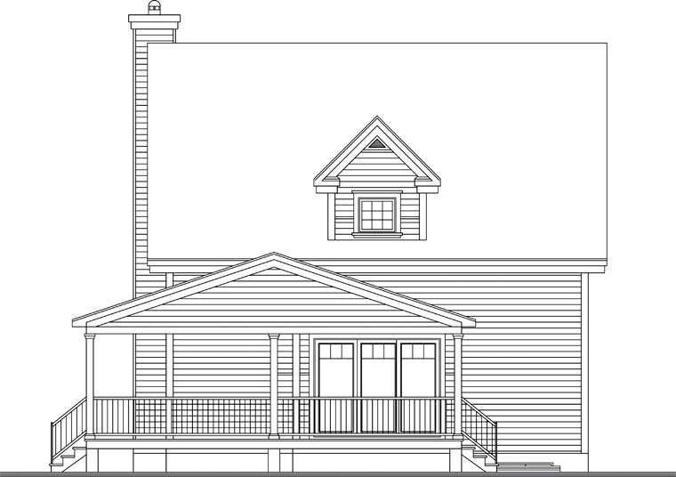 Country House Plan 65106 Rear Elevation