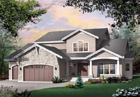 Craftsman Traditional House Plan 65107 Elevation