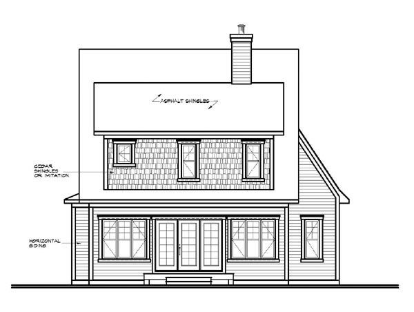 Country House Plan 65110 Rear Elevation