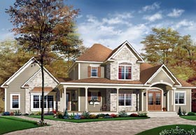 Traditional House Plan 65111 Elevation