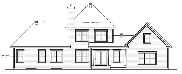 Traditional House Plan 65111 Rear Elevation