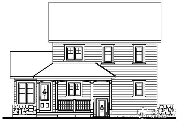Country House Plan 65116 Rear Elevation