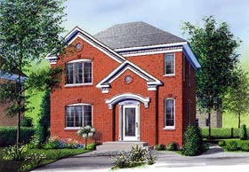 Colonial House Plan 65120 Elevation