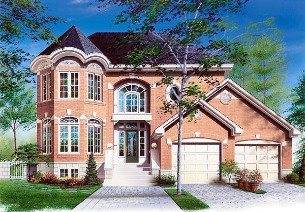 European Victorian House Plan 65124 Elevation