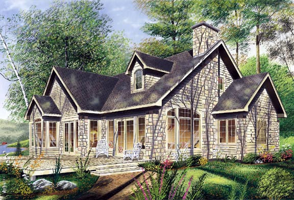 Traditional House Plan 65125 Rear Elevation