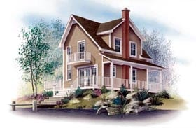 Country Traditional House Plan 65127 Elevation
