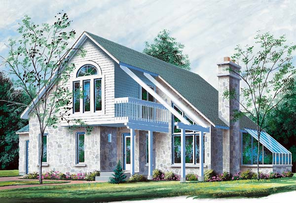 Contemporary House Plan 65128 Elevation
