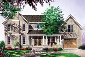 House Plan 65133 | Traditional Style House Plan with 2032 Sq Ft, 3 Bed, 3 Bath Elevation