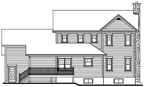 Country Farmhouse House Plan 65135 Rear Elevation