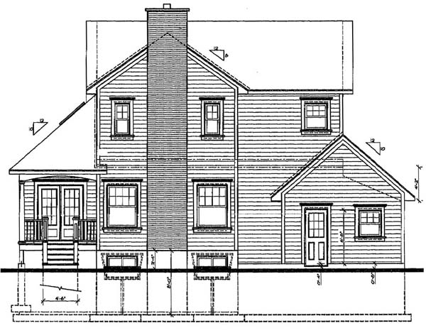 Country Farmhouse House Plan 65138 Rear Elevation