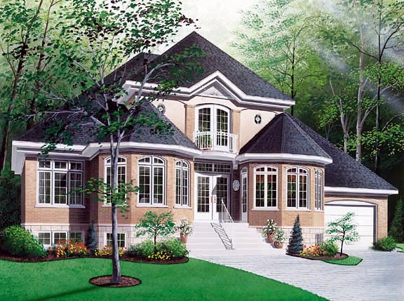 European Victorian House Plan 65139 Elevation