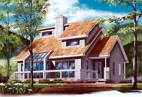 Craftsman , Contemporary House Plan 65141 with 3 Beds, 2 Baths Elevation