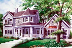 Country Farmhouse Victorian House Plan 65143 Elevation
