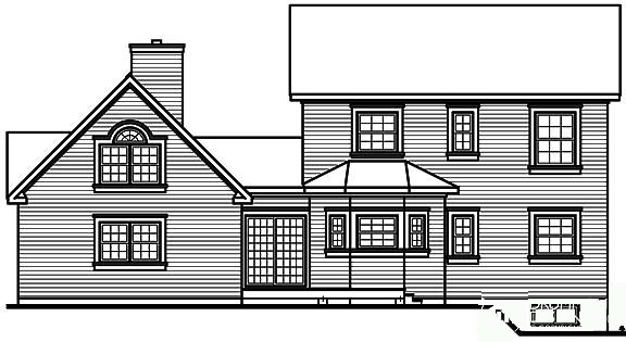 Country Farmhouse Victorian House Plan 65143 Rear Elevation