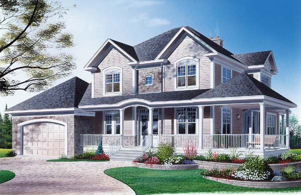 Country Farmhouse House Plan 65145 Elevation