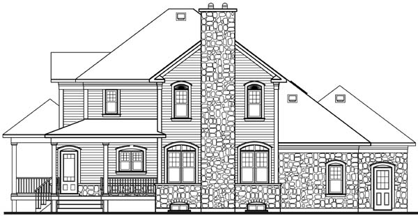 House Plan 65145 | Country Farmhouse Style Plan with 2292 Sq Ft, 3 Bedrooms, 3 Bathrooms, 2 Car Garage Rear Elevation