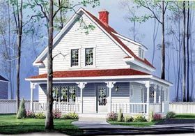 Bungalow Country House Plan 65146 Elevation