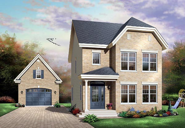 House Plan 65148 Elevation