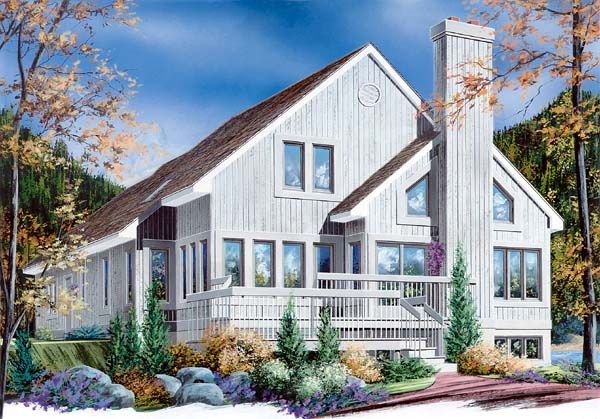Contemporary Craftsman House Plan 65153 Elevation