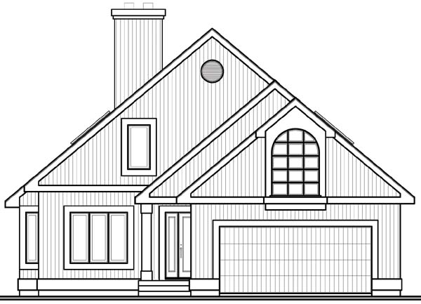 Contemporary Craftsman House Plan 65153 Rear Elevation