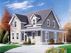 Country Farmhouse House Plan 65154 Elevation