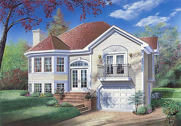 Victorian House Plan 65156 with 2 Beds, 1 Baths, 1 Car Garage Elevation