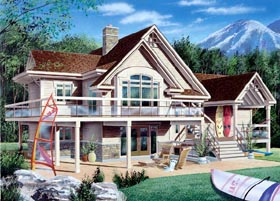 Coastal Craftsman Traditional House Plan 65157 Elevation