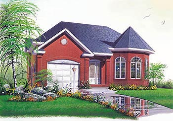 One-Story, Victorian House Plan 65159 with 3 Beds, 1 Baths Elevation