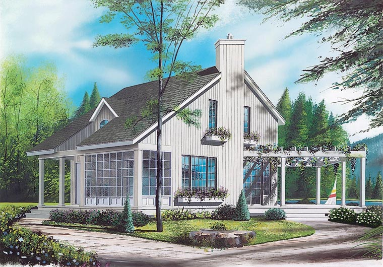 Contemporary House Plan 65161 with 2 Beds, 2 Baths Front Elevation