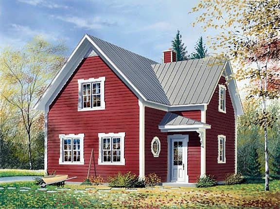 Cabin Southern Traditional House Plan 65164 Elevation