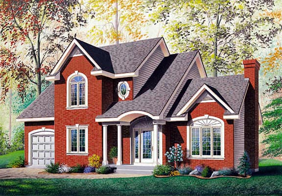 Colonial House Plan 65168 Elevation