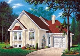 Traditional House Plan 65170 with 2 Beds, 1 Baths, 1 Car Garage Elevation