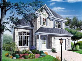 House Plan 65171 | Country Traditional Style Plan with 1460 Sq Ft, 3 Bedrooms, 2 Bathrooms, 1 Car Garage Elevation