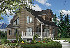 House Plan 65173 | Contemporary Country Style Plan with 1285 Sq Ft, 2 Bedrooms, 2 Bathrooms Elevation