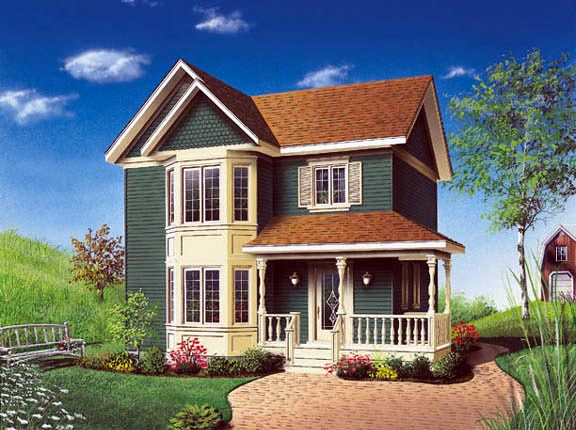 Victorian , Farmhouse , Country House Plan 65174 with 3 Beds, 2 Baths Elevation