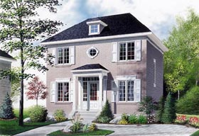 House Plan 65176 | Colonial Style Plan with 1352 Sq Ft, 3 Bedrooms, 2 Bathrooms Elevation