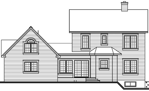 Country Victorian House Plan 65177 Rear Elevation