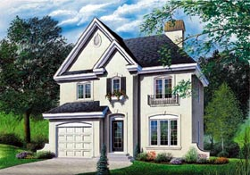 European House Plan 65178 Elevation