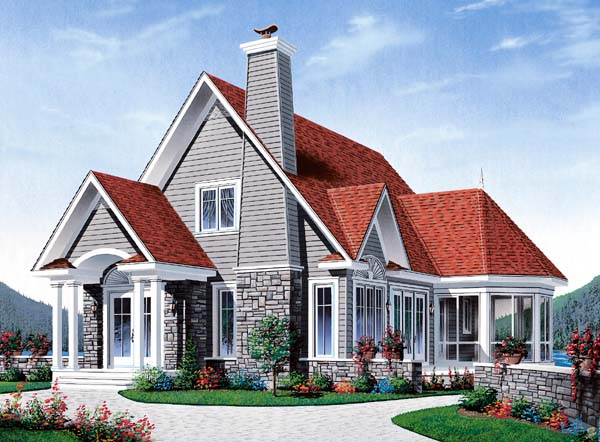 Country Tudor House Plan 65179 Elevation