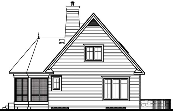 Country Tudor House Plan 65179 Rear Elevation