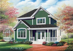 Country Farmhouse Elevation of Plan 65181