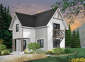 House Plan 65183 | Country Traditional Style Plan with 1352 Sq Ft, 3 Bedrooms, 2 Bathrooms Elevation