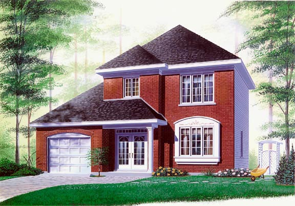 Colonial House Plan 65185 Elevation