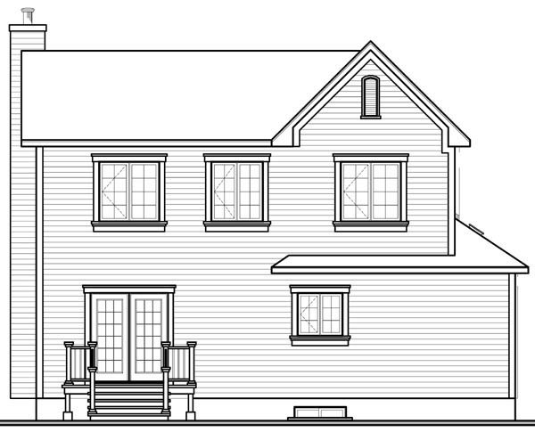 Country House Plan 65186 Rear Elevation