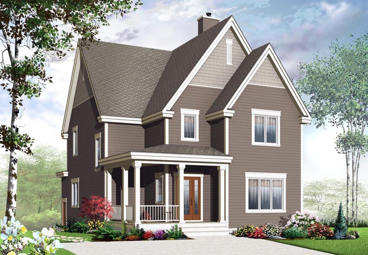 Country, Craftsman House Plan 65191 with 3 Beds, 3 Baths Elevation