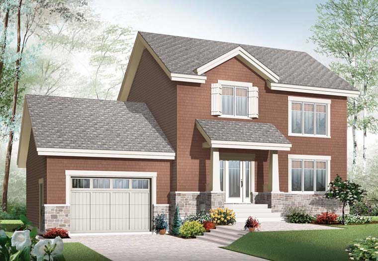 Craftsman House Plan 65192 Elevation