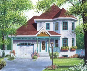 Victorian House Plan 65196 Elevation