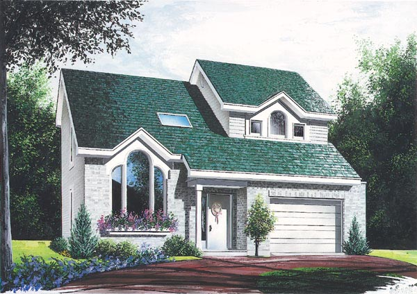 Contemporary House Plan 65198 with 3 Beds, 2 Baths Front Elevation
