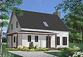 Plan Number 65199 - 1597 Square Feet