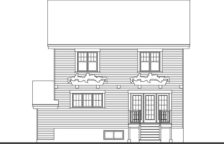 Craftsman House Plan 65201 Rear Elevation